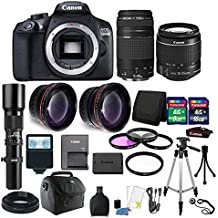 Canon EOS Rebel 1300D / T6 18MP DSLR Camera With 18-55mm Is III And 75-300mm Accessory Kit