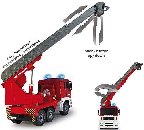 RC Auto kaufen LKW Bild 5: RC MAN Feuerwehr 27MHz ferngesteuert - Motorsound, Hupe, Licht INKL. BATTERIEN - komplett Set*