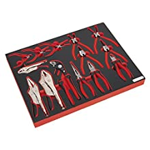 Sealey TBTP05 Tool Tray with Pliers Set 14pc, Red, 50 x 530 x 418