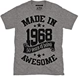 6TN fabriqué en 1968 50 Ans of Being Excellent T Shirt - Gris Cendre, XX-Large