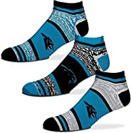For Bare Feet NFL Triplex Heathered No-Show Ankle Socks - 3 Pack