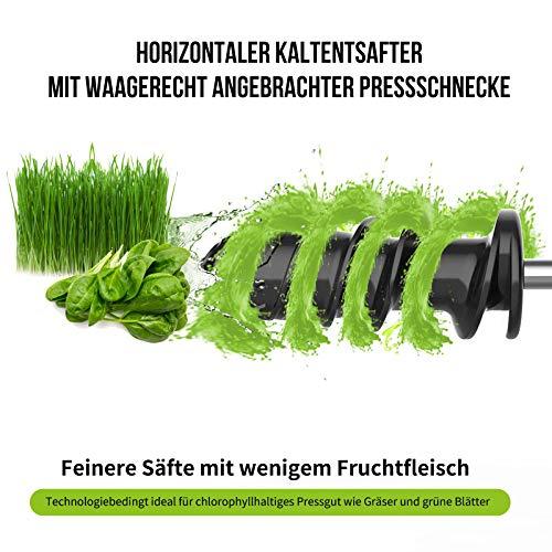 Slow Juicer elektrischer Entsafter für Gemüse und Obst Bild 4*