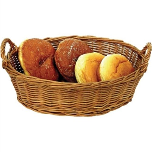 Weiden Großer ovaler Tisch Korb Rattan 65x 300x 200mm Geschirr Lebensmittel Servierschale
