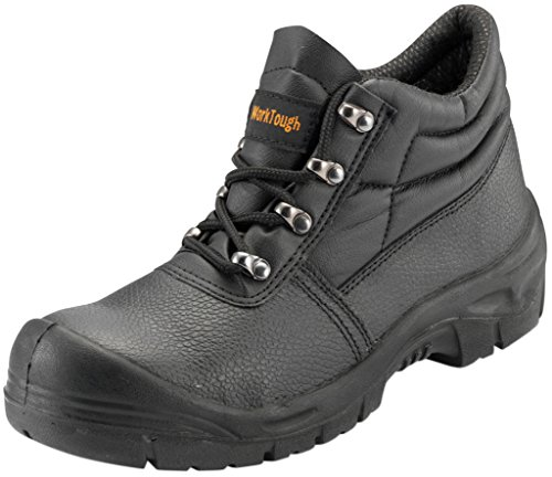 Worktough 105sm06Größe 6Leder Chukka Boots–Schwarz _ P, 105SM07