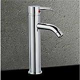 Autre - Robinet mitigeur de lavabo design en laiton chrome mousseur metal