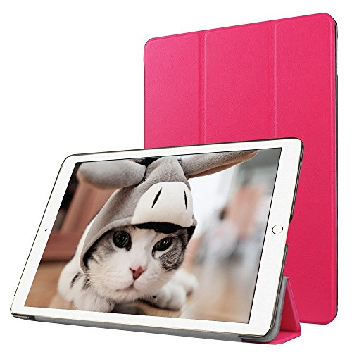 Preisvergleich Produktbild Apple iPad Pro 12.9 Fallabdeckung , TechCode iPad Pro Design Schein-Glitter-Leder-intelligente Kasten-Abdeckung mit Standplatz -Abdeckung PU-Leder-Kasten mit Standplatz -Abdeckung Executive-Multi-Funktions-Leder-Standby-Gehäuse mit eingebauter Magnet für Sleep & Awake Funktion für Apple iPad Pro 12.9 (iPad Pro 12.9, Hot pink)