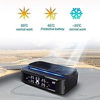 Morehappy7 TPMS Sistema de Control de presión de neumáticos inalámbrico Universal con 4 sensores externos para controlar y Mostrar la presión y Temperatura de 4 neumáticos en Tiempo Real