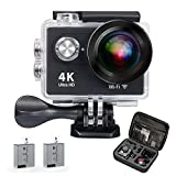 Action Cam Aktionskamera QZT, 4K 30FPS Ultra HD Wasserfeste Aktions Sport Kamera mit WIFI und...