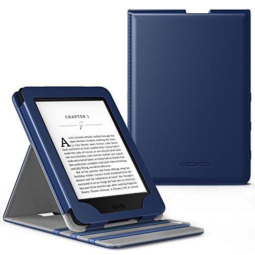 MoKo Kindle Paperwhite Hülle - Vertikal Flip Kunstleder Schutzhülle mit Auto Wake/Sleep für Amazon All-New Kindle Paperwhite (alle Versionen für 2012, 2013, 2015 und 2016), Indigo