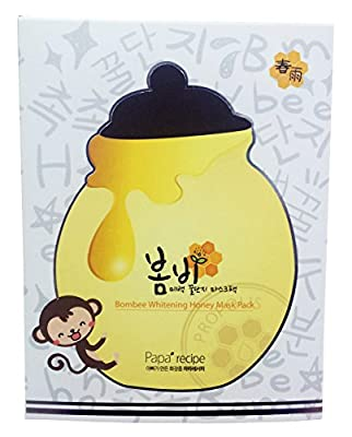 Papa Recipe Bombee Whitening Honey Masks Facial Skincare Pack 10 Sheets by Papa Recipe