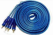 5m High End Cable RCA Audio con apantallamiento especial para Car Amplificador HI-FI Amplificador Reproductor de DVD etc.-veredelte Conector y cable remoto # RCA de 5000W #