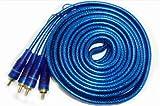 Watermark 5m High End Cinch Kabel Audio mit spezial Abschirmung für CAR HIFI Endstufe Verstärker DVD-Player usw. - veredelte Stecker und Remote Leitung #RCA-5000W#