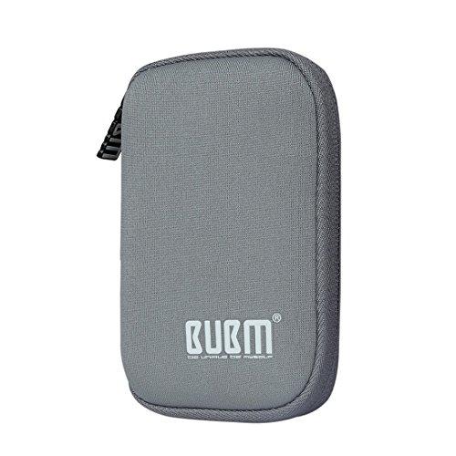 BUBM Soft Mini Tasche Aufwahrungstasche mit 9 Kapazität für USB Drive Shuttle (Grau) -