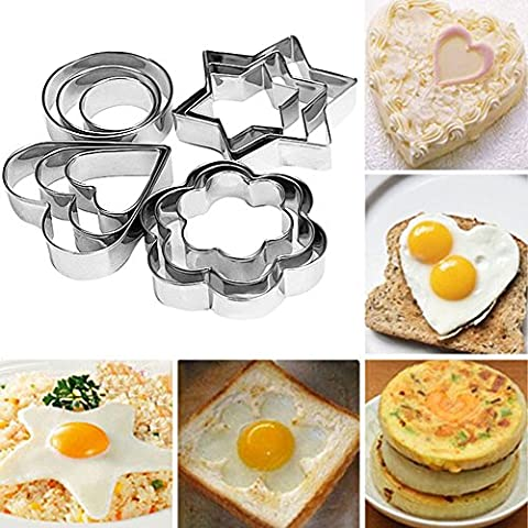 Bihood Fruit Cutter Cake Cookie Biscuit Egg Fondant Molds Cake