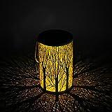 Solar Laterne für draußen, Gartendeko praktisch und als Deko Lampe Licht Laterne für Rasen/Hof / Gehweg/Auffahrt Laterne IP44 Wasserdicht LED Metall