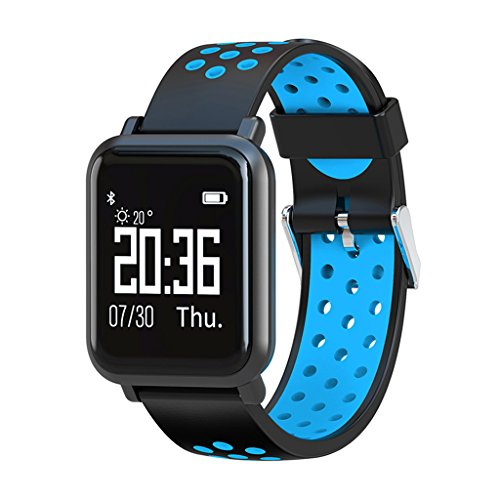 Shouhuan Bluetooth Smart Watch Touchscreen Schrittzähler Motion Tracker Kompatibel Mit IOS Android-Handy Wasserdicht Unisex SHUAN (Color : Blue) - Smart Der Sensor Basketball
