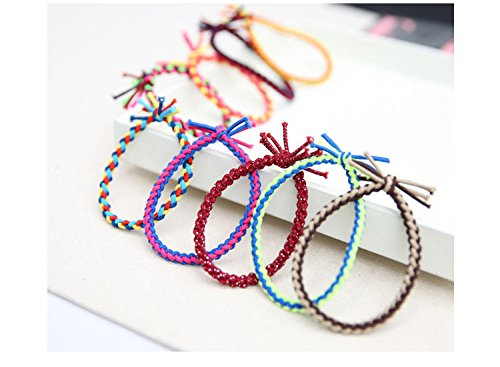 Ponytail Holders (12Pcs) Hair Bands Elastic Bands Ribbon Bands Hair Ties Accessories - Pack of 12 (Model1, Multicolor)  available at amazon for Rs.129