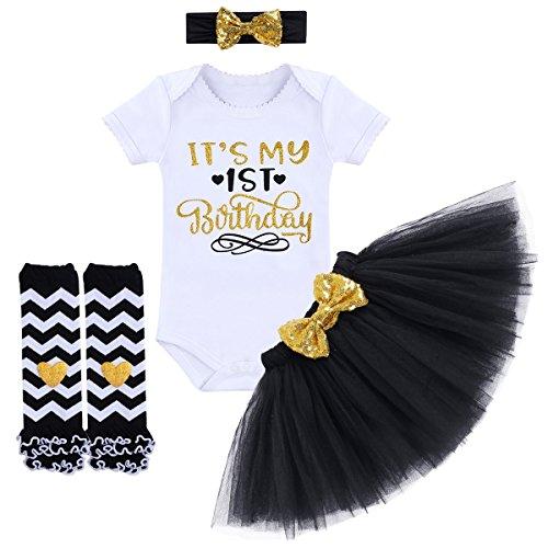 TTYAOVO Bebita 1er Cumpleaños Princesa Tutu Falda