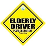 Elderly Driver Car Sign, Elderly Driver, Car Sign, Bumper Sticker, Baby on Board, Driving Sign, Automobile Sign, Vehicle Sign, Joke car signElderly Driver Please Be Patient, Baby on Board Sign Style, Baby on Board, Decal. Old Age Sign, OAP, Pensioner, Grandad Car Sign, Nana Car Sign, Grandma Car Sign, Nan Car Sign, Bumper Sticker