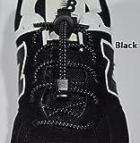 Lacci rapidi Foxhound ® (Lock Laces) elastici e riflettenti ,novità scarpe uomo donna,ideali come accessorio per sport,running,bambini,scuola,outdoor,camping. (black)