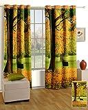 "Swayam Curtain Concept Printed Premium Cosmo Fashion Door Curtains - 48""x90"", Multicolor (LCD-1111-Park)"