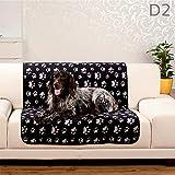 Dreamhome24 Haustierdecke XL Hundedecke 100 x 70 wasserdicht Unterlage Haustier Decken 3 für Hunde und Katzen Fleecedecke, Design - Motiv:Design 2