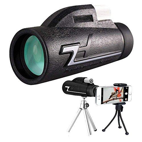 Monokulare Teleskope, 10x42 Dual Focus Wasserdichte Spektive, HD Monokular Niedrige Nachtsicht Mit Telefon Clip Und Stativ Für Handy-für Vogelbeobachtung, Jagd, Camping, Wandern, Outdoor, Überwachung - OUTERDO