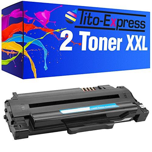 Preisvergleich Produktbild 2 Toner-Patronen XL Platinum Serie - Schwarz, kompatibel zu Samsung MLT-D1052L ML-1910