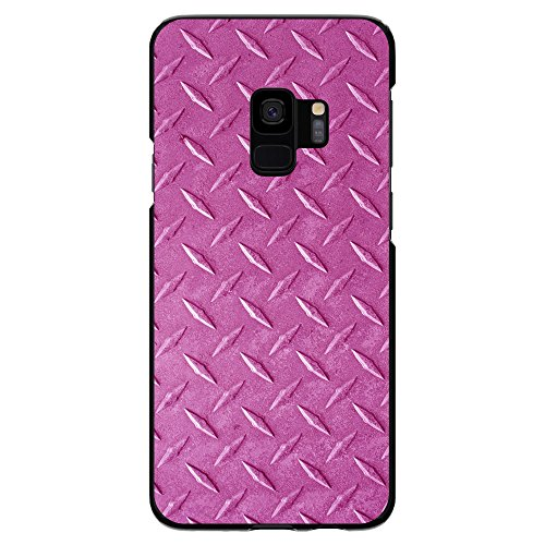 r Galaxie-S9 (Not Plus) Benutzerdefinierte Ultra dünne dünne Harte Plastikabdeckung Hot Pink Diamant-Platten-Stahl Bilddruck auf schwarzen Kasten ()