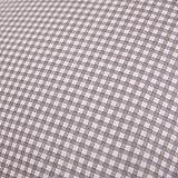 Hans-Textil-Shop Stoff Meterware, Karo 3x3 mm, Grau, Baumwolle