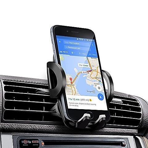 Support voiture, Amotus® universelle réglable Air Vent Car Phone Holder Car Kit Cradle Support pour iPhone 7 6S 6 Plus SE, Samsung Galaxy Note / Edge, LG Nexus, HTC, Smartphone et GPS Device