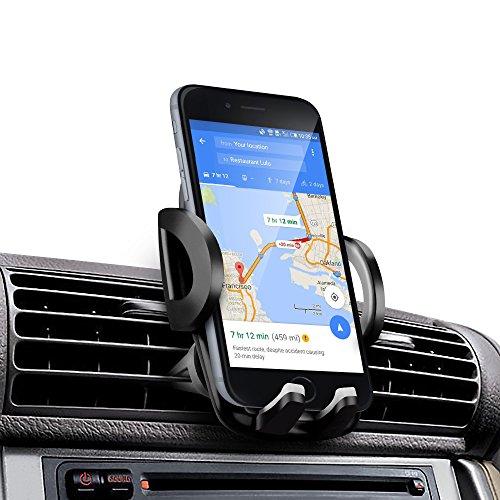 Amotus Supporto per auto aerazione regolabile universale per auto supporto per auto kit di montaggio per auto iPhone 7 6s Plus SE, Samsung Galaxy Note, Edge, LG Nexus, HTC, smartphone e GPS