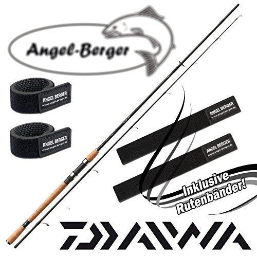 Daiwa Lexa Spin Spinnrute mit gratis Angel Berger Rutenband (2.40m)