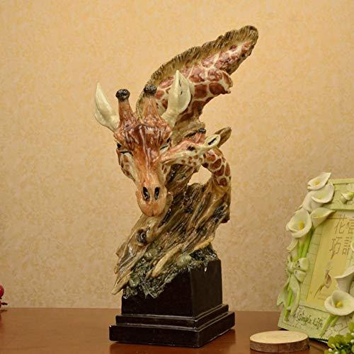 FDFGGR Escultura Escultura Busto Madre bebé Jirafa