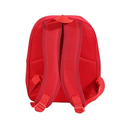 Baby tela zaino bambini zaini scuola borsa zaino bambini Toddler zainetto con colore puro Red