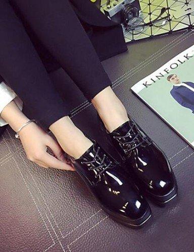 ZQ hug Scarpe Donna-Sneakers alla moda-Formale / Casual-Comoda / Punta squadrata-Zeppa-Finta pelle-Nero , black-us8 / eu39 / uk6 / cn39 , black-us8 / eu39 / uk6 / cn39 black-us7.5 / eu38 / uk5.5 / cn38
