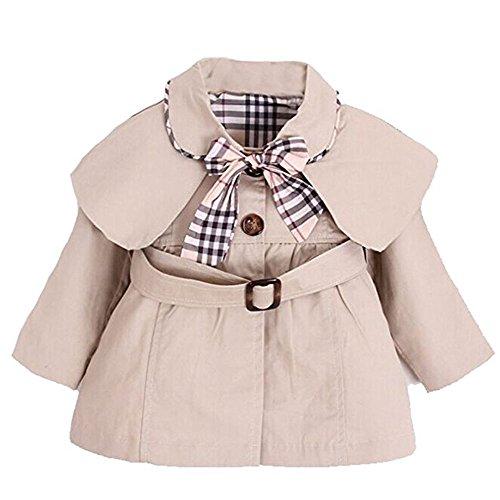 Yaodgfa Baby Mädchen Jacke Mantel Trenchcoat Sweatjacke Prinzessin Kinderjacken kleidung Outerwear 0-3 Jahre Frühling Herbst (Jacke Kinder Baby)