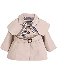 YaoDgFa Baby Mädchen Jacke Mantel Trenchcoat Sweatjacke Prinzessin Kinderjacken kleidung Outerwear 0-3 Jahre Frühling Herbst