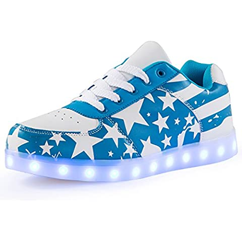 AFFINEST Adulto Unisex Scarpe Led Luminosi Sneakers Con Le Luci