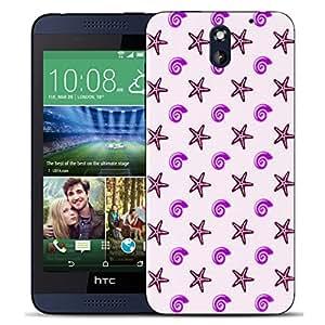 Lotties Zubehör Schön Hartkunststoff Schutzhülle hülle Für HTC Desire 610 case - purple shingle & GRIFFEL