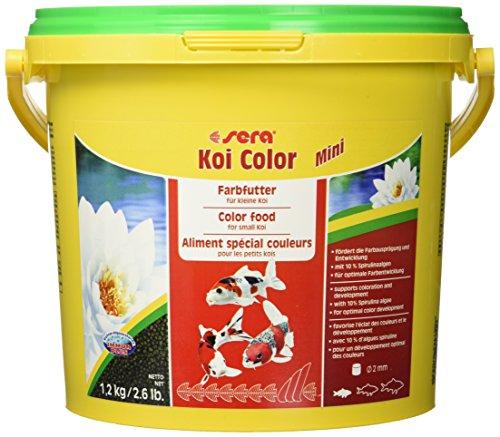 sera 07053 KOI Color Mini 3,8 Liter (2 mm) das Farbfutter für die optimale Farbentwicklung von Koi bis 12 cm -