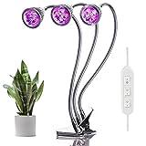 Lovebay 3*5W 15LED Pflanzenlampe Pflanzenlicht||Rot Blau(9:6) für Zimmerpflanzen zum überwintern||mit 360° einstellbar Flexible Gooseneck||Büro Haus Garten Aquatische Pflanzen||Adapter mitgeliefert