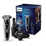 Philips Series 9000 S9711/32 Rasoio Elettrico Wet & Dry con Lame di Precisione, Include Regolabarba e Sistema di Pulizia SmartClean
