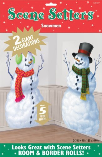 Winter Snowmen Holiday Scene Setter Add Ons by Factory Card and Party Outlet