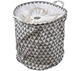 Vivir® High Quality Abstract Pattern Laundry Basket For Cloths With Drawstring Closure (40 Litre Laundry Hamper)
