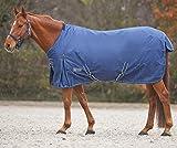 Pferde-Outdoordecke Weidedecke Winterdecke 100g wasserdicht atmungsaktiv Kreuzgurte+Schweiflatz, Gr. 145