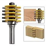 MuZuZi Router Bit 1/2 pollici stinco Lingua e Groove comune 5 Lama Regolabile 3 Flauto Tenon del gabinetto Taglierina per la lavorazione del legno