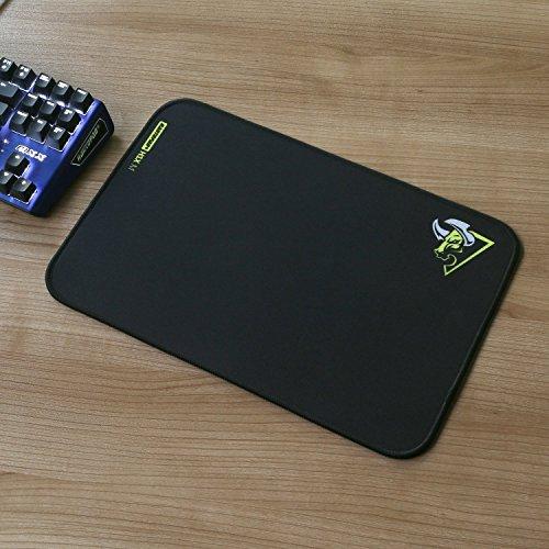Preisvergleich Produktbild RantoPad H1X Reinigungstuch Gaming Maus Pad, gefrosteter Oberfläche, Flechtwerk Boden, schwarz, schwarz, m