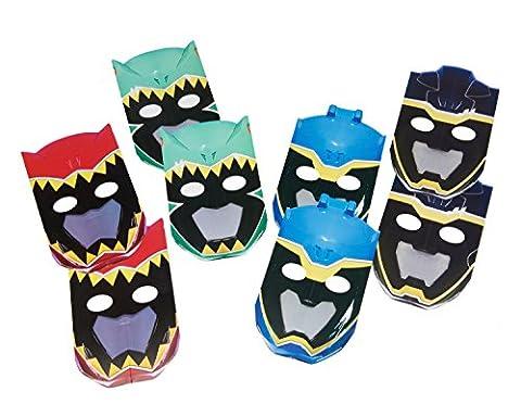 Power Rangers-Dino Charger Masque en Papier (Lot de 8)