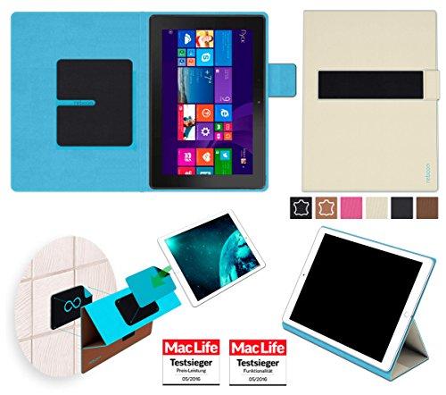 reboon Hülle für Dell Venue 10 Pro LTE Tasche Cover Case Bumper | in Beige | Testsieger